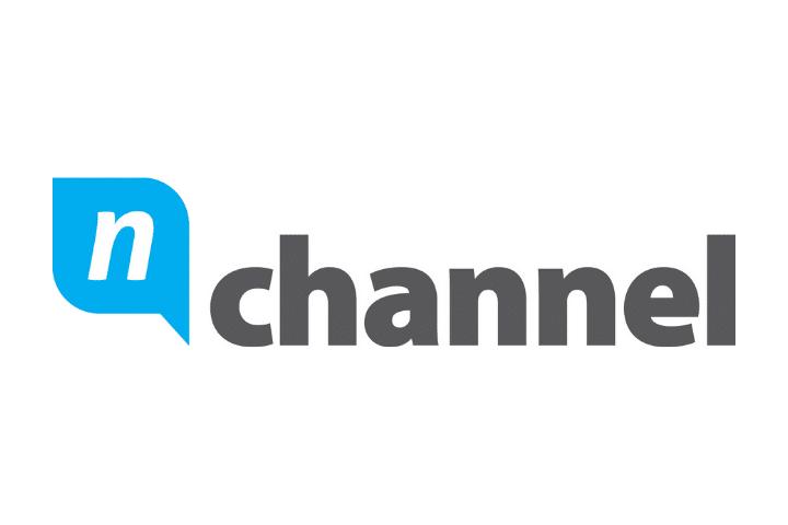 Nchannel Logo, black text white background